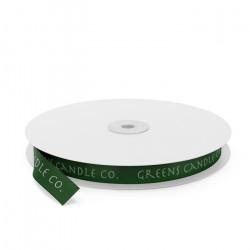Greens Candles Printed Ribbon