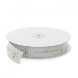 Hive Candle Printed Grosgrain Ribbon