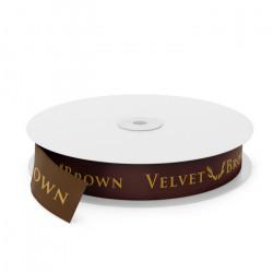 Velvet Brown Printed Ribbon