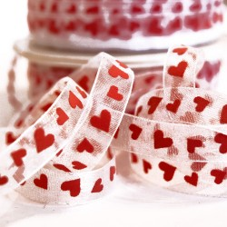 Love Heart Chiffon Ribbon
