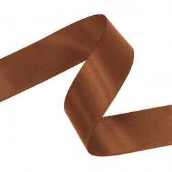 Coffee Double Faced Satin Ribbon