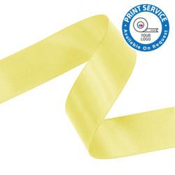 15mm Lemon Double Faced Satin Ribbon