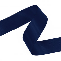 Navy Double Faced Satin Ribbon