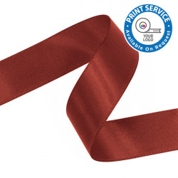 15mm Rust Double Faced Satin Ribbon