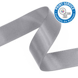 15mm Silver Double Faced Satin Ribbon