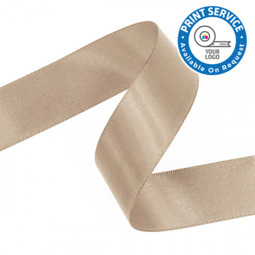 15mm Tan Double Faced Satin Ribbon
