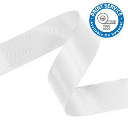 15mm White Double Faced Satin Ribbon