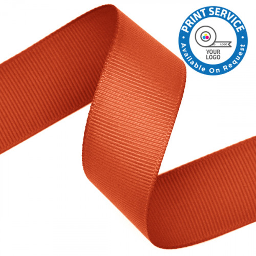 23mm Grosgrain Ribbon Torrid Orange