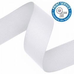 15mm Grosgrain Ribbon White