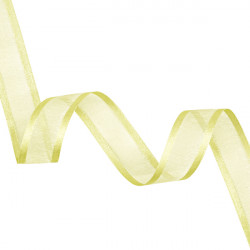 23mm Lemon Elegance Organza Ribbon