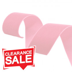 16mm Baby Pink Velvet Ribbon
