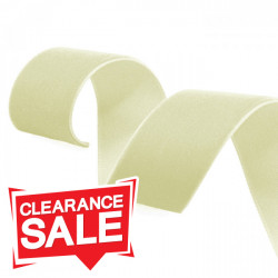 16mm Cream Velvet Ribbon