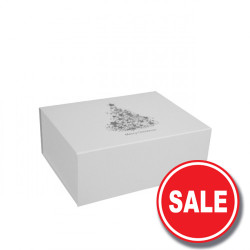 160mm White Christmas Gift Boxes