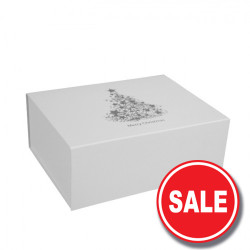 220mm White Christmas Gift Boxes
