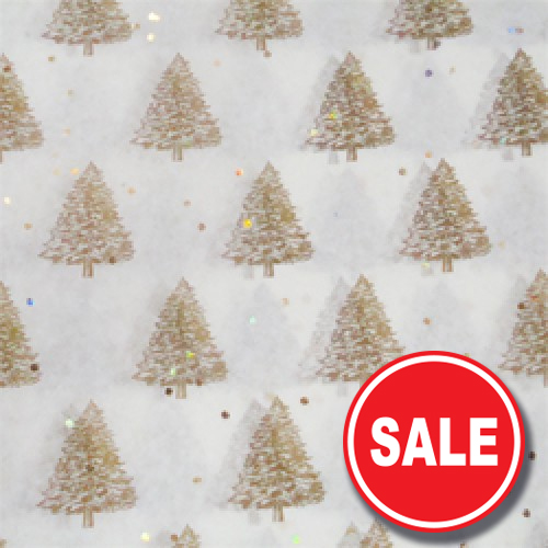 Gold Christmas Tree Tissue Paper