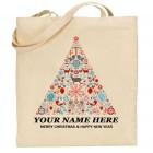 Personalised Xmas Cotton Bag