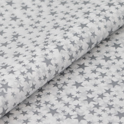 Silver Star Patterned Tissue Paper