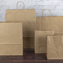Brown Twisted Handle Paper Carrier Bags