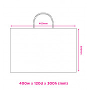 400mm White Twisted Handle Paper Carrier Bags