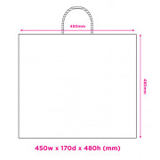 450mm White Twisted Handle Paper Carrier Bags