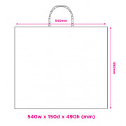 540mm White Twisted Handle Paper Carrier Bags