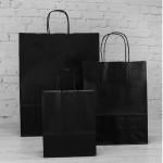 Black Paper Carrier Bags