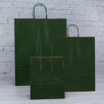 Dark Green Paper Carrier Bags