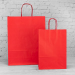 Red Paper Carrier Bags