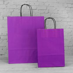 Violet Paper Carrier Bags