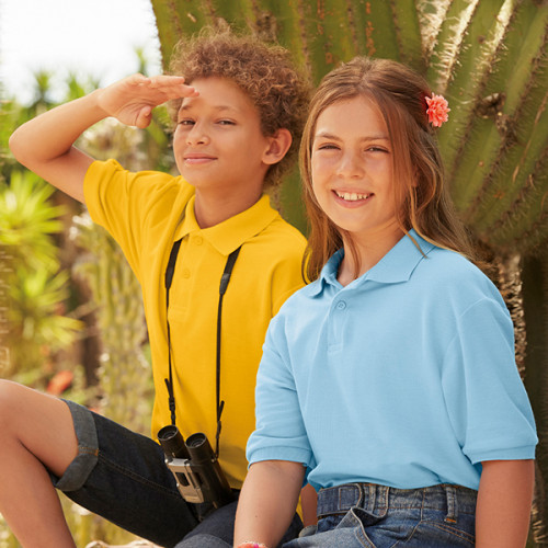 Childrens Fruit Of Loom Polo Shirts