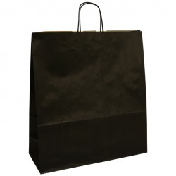 400mm Black Twisted Handle Paper Carrier Bags