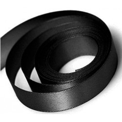Black Double Faced Satin Ribbon