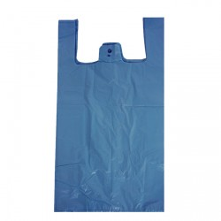 11x17x21in Blue Recycled Vest Carrier Bags