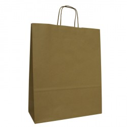 320mm Brown Twisted Handle Paper Carrier Bags