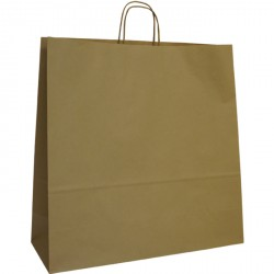 540mm Brown Twisted Handle Paper Carrier Bags