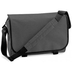 Charcoal School Messenger Bag