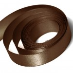 Chocolate Satin Ribbon