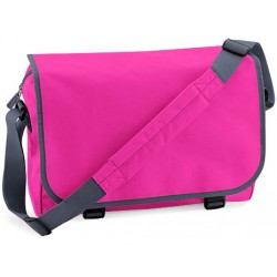 Fuchsia School Messenger Bag