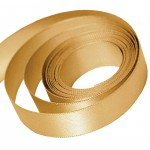 Old Gold Satin Ribbon
