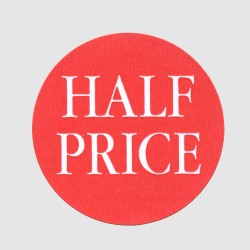 Half Price Label