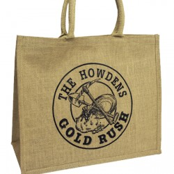 410mm Printed Padded Jute Bags