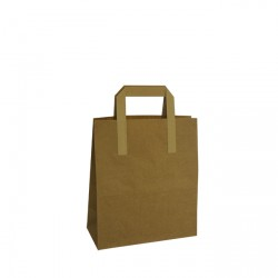 260mm Brown Paper Carrier Bags External Handles