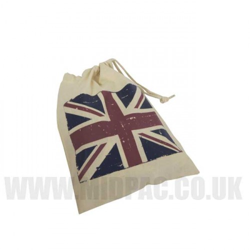 Large Union Jack Drawstring Bags