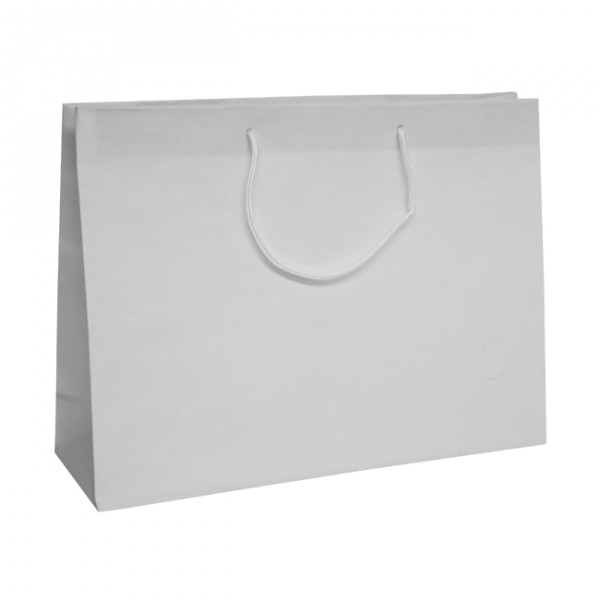 400mm White Recycled Paper Carrier Bags