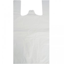 13x20x23 White Polythene Vest Carrier Bags