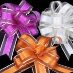 Metallic Edge Ribbon Bows