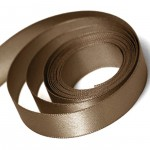 Mocha Double Faced Satin Ribbon