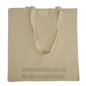 Natural Cotton Bags Long Handles