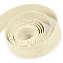 Cotton Twill Ribbon Natural