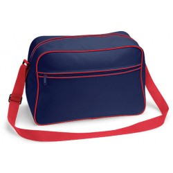 Navy Red Retro Shoulder Bags